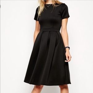 Asos Sz 10 perfect black scuba dress